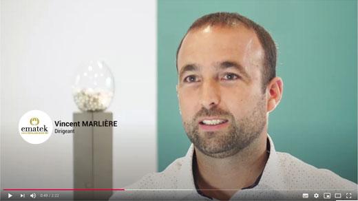 Vincent MARLIERE - Explique l'univers EMATEK spécialiste du cristal sur mesure