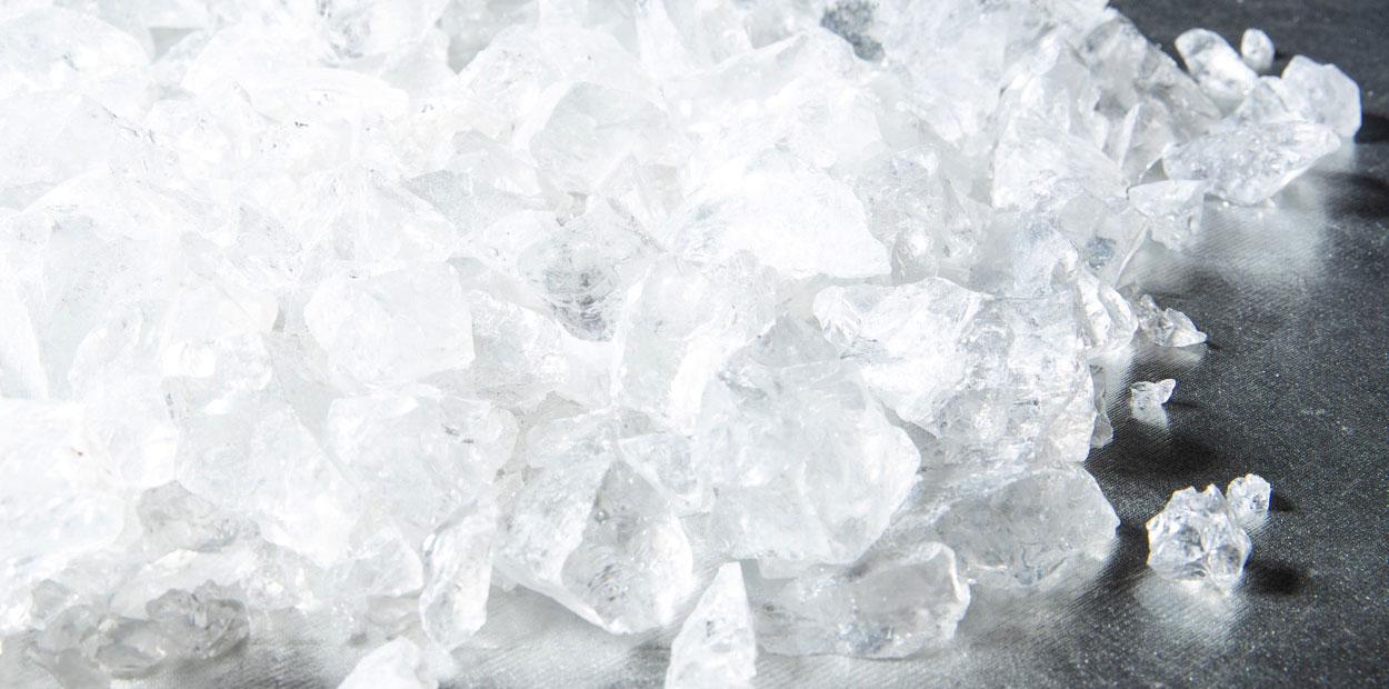 Ematek raw crystals for melting in kilns